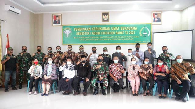 Dandim Aceh Barat : Toleransi Adalah Pondasi Dasar Yang Tidak Bisa Di Otak Atik Dalam Menciptakan KUB