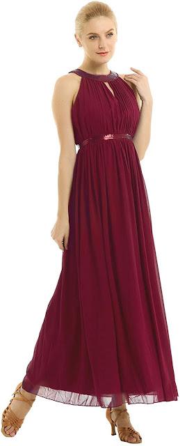 Floor Length Chiffon Halter Bridesmaid Dresses