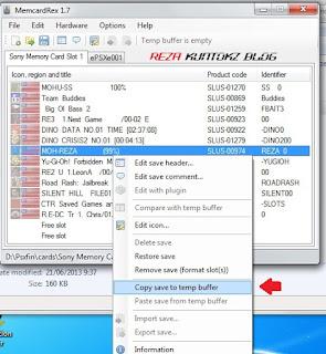 Cara mudah copy data save game emulator Psxfin ke emulator ePSXe atau sebaliknya