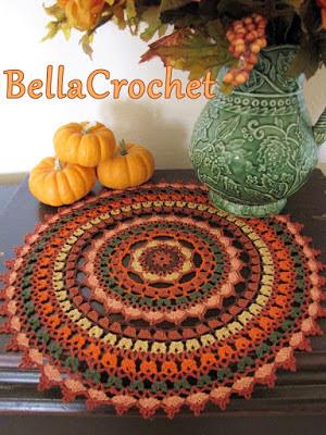 http://bellacrochet.blogspot.com.es/2015/11/autumn-spice-mandala-doily-free-crochet.html