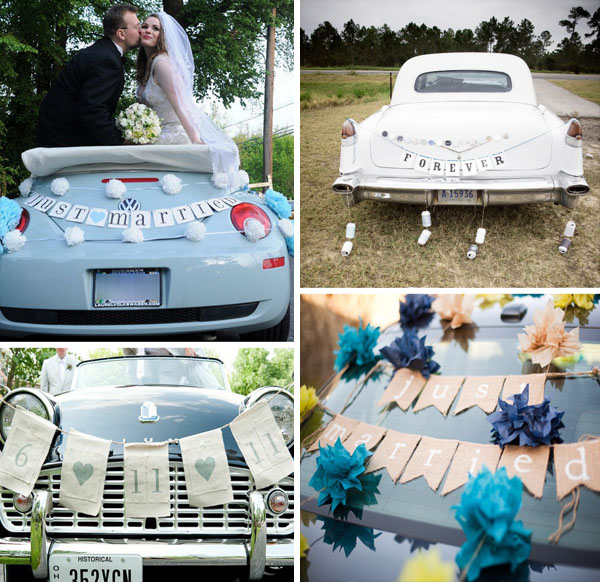 Decorare l 39 auto degli sposi for Targa oggi sposi