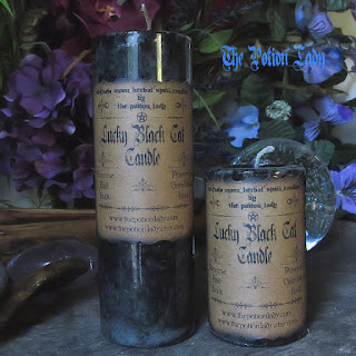 Lucky Black Cat Witchcraft, Pagan and Hoodoo Candles