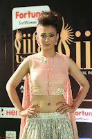 Akshara Haasan in Peachy Crop Top Choli Skirt at IIFA Utsavam Awards 79.JPG