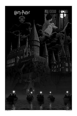 Harry Potter and the Sorcerer's Stone Variant Movie Poster Screen Print by Gerhard & Dark Hall Mansion