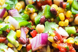 Loaded Veggie Salad with Chickpeas and Black Beans Recipes