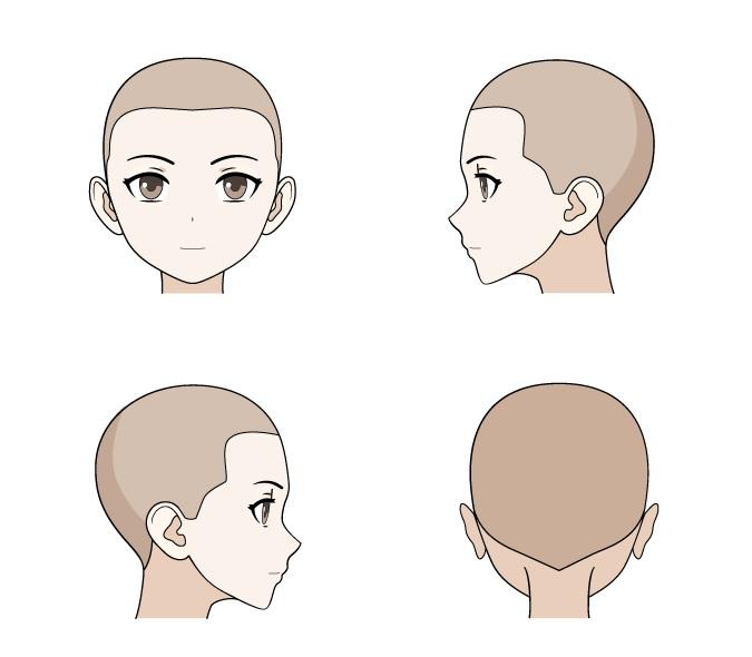 Anime garis rambut wanita