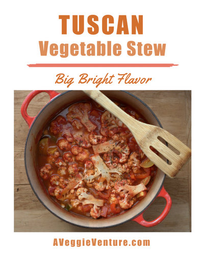 Tuscan Vegetable Stew ♥ AVeggieVenture.com, a year-round detox stew, quick to make. Vegan. Low Carb. Weight Watchers Friendly.