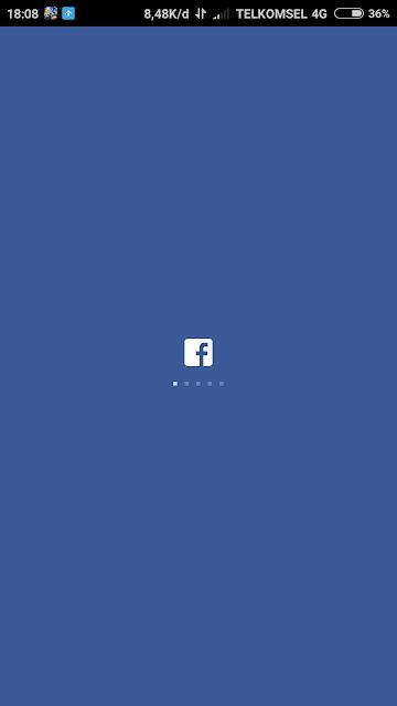 FB Lite cuma tampil di loading saja