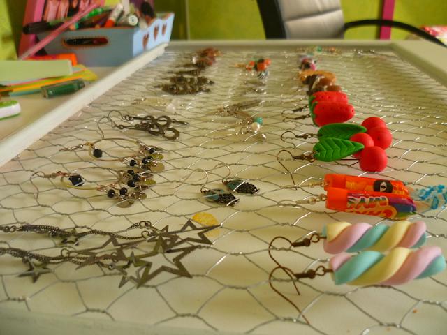 Cadre DIY pour ranger bijoux