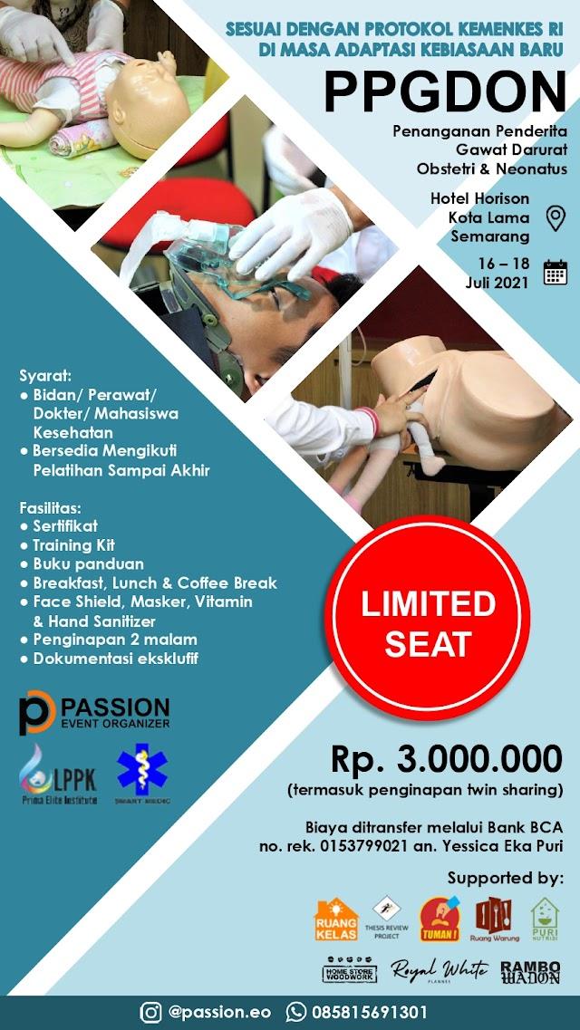 Pelatihan PPGDON (Penanggulangan Penderita Gawat Darurat Obstetri dan Neonatus)