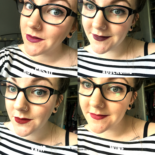 Primark Lip Liners | Review + Swatches | Hot Gossip, Aubergine, Vamp, Wine | Love, Maisie