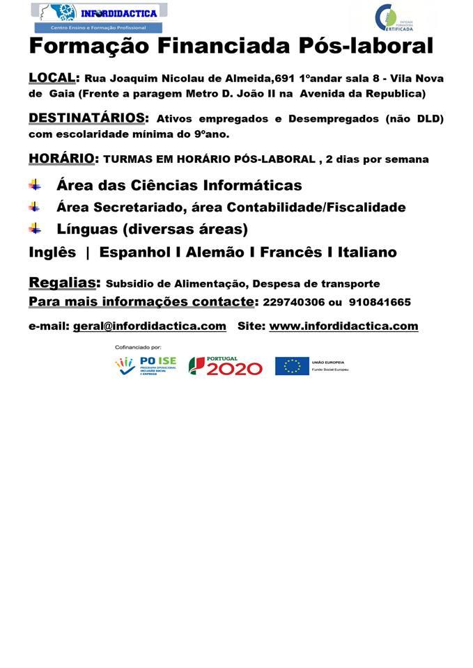 GAIA – Cursos financiados nas áreas de Informática, Línguas e Secretariado