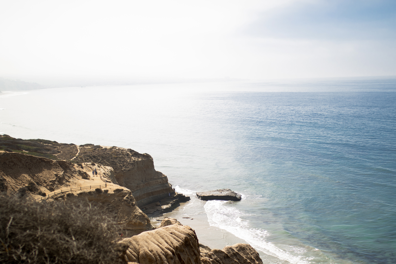Torrey Pines trail in La Jolla, California