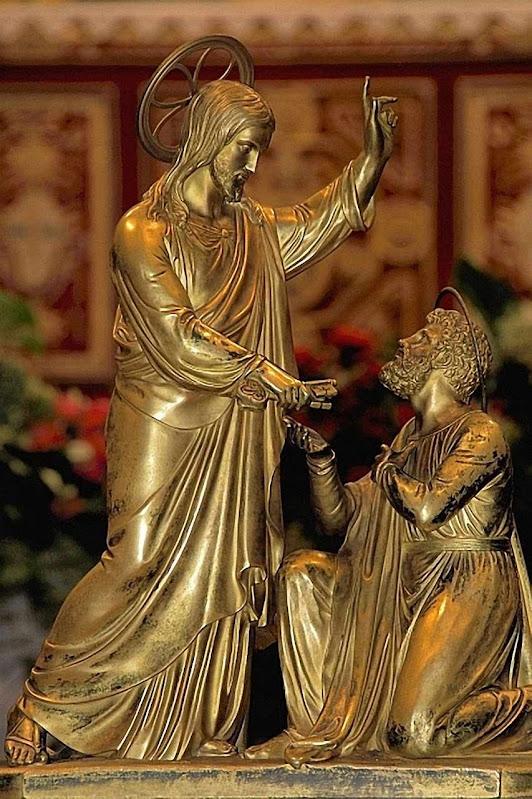 Jesus entrega as chaves da Igreja a São Pedro
