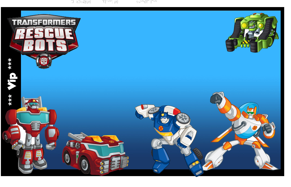 High Quality Transformers Rescue Bots Free Printable Invitation, Photo Frame Or Label.