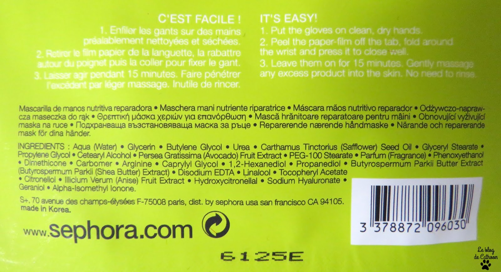 Masque Mains Avocat - Sephora