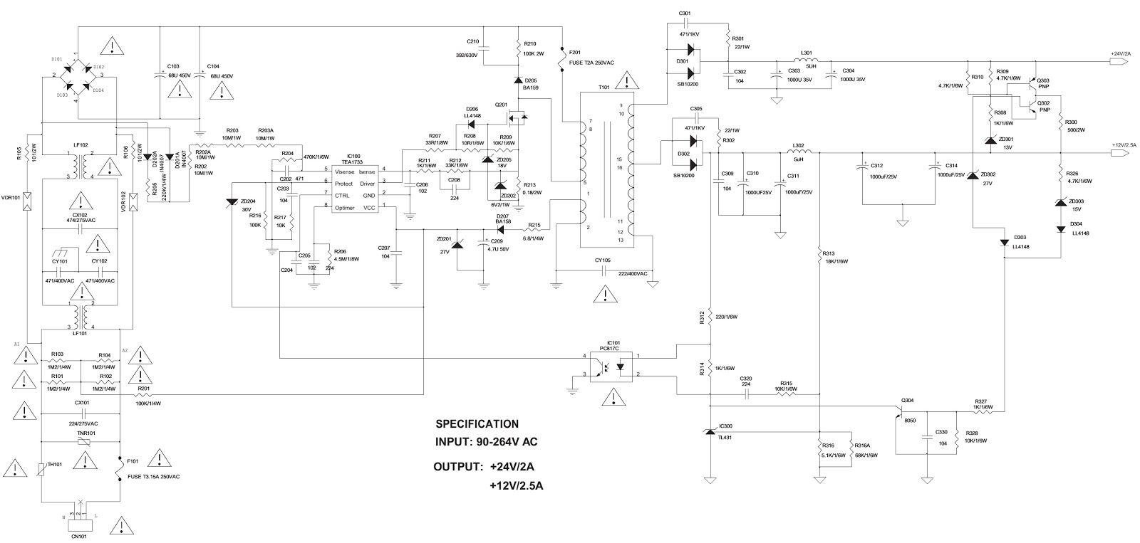 Toshiba Le3273 Le3973 Led Lcd Tv Smps Circuit Diagram Le3273aw Schematic