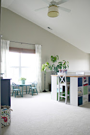 DIY craft table using cubbies