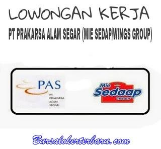 Lowongan Kerja di Bekasi : PT. Prakarsa Alam Segar (Mie Sedaap/Wings Group)