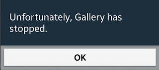 unfortunately gallery has stopped error message on android phone