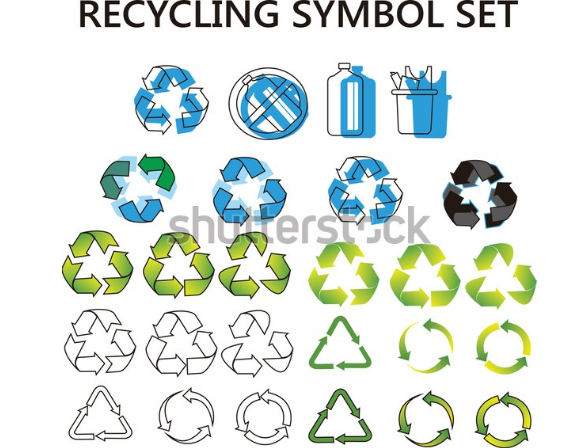 illustration icon recycling symbol