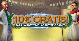 Paston regala 10€ slot Time Lab Olympic Games hasta 27-9-2020