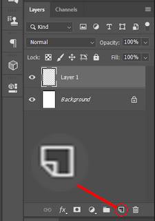 Gambar membuat layer dengan icon Create A New Layer adobe photoshop mahasiwa excel