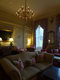 stunning vintage living room in stobo house with grand chandeller