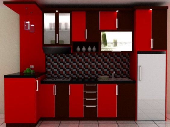 peralatan dapur warna merah