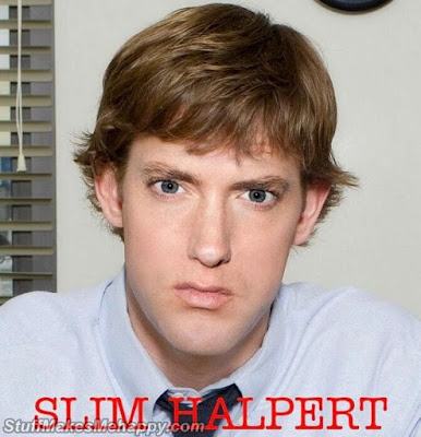 Eminem and Jim Halpert (a character in the TV series Office)