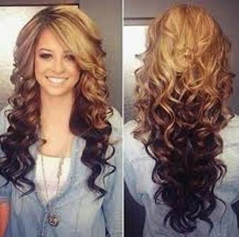 Rambut Geriting Pirang Bagian Ujung