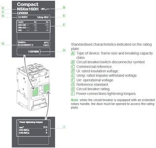 Nameplate MCCB Compact NSXm
