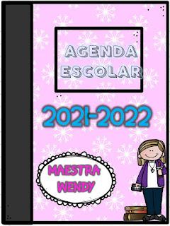 Agenda Escolar para maestros y alumnos