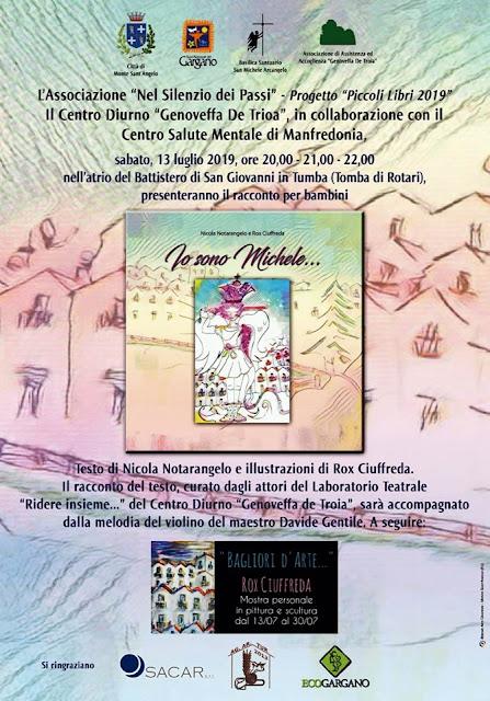 """Monte Sant'Angelo, """"Io sono Michele…"""", il racconto per bambini sui disagi mentali"""