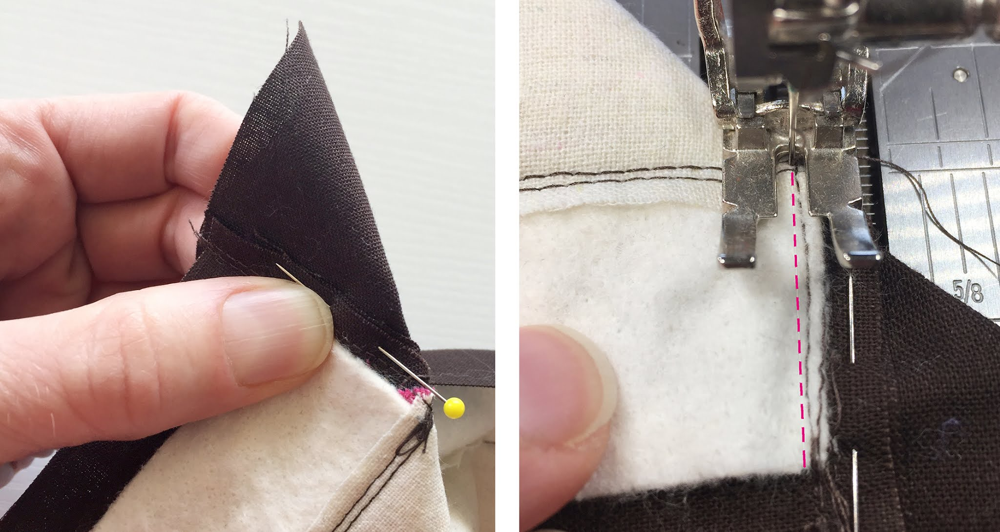 Reducing corner fabric bulk