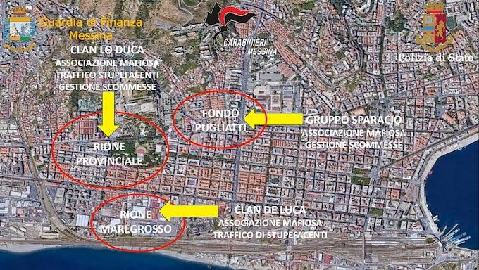 Operazione antimafia a Messina: 33 arresti nella notte