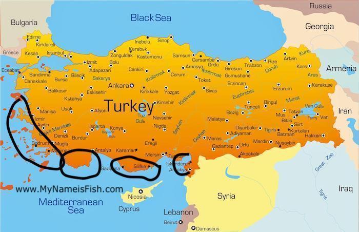 swordfish spots in Turkey