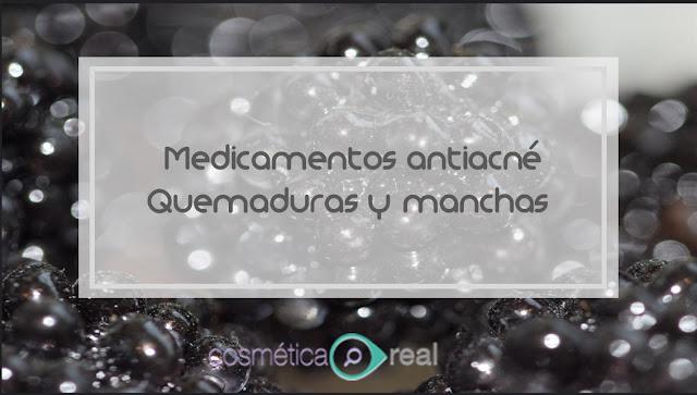 Medicamentos antiacné, quemaduras y manchas