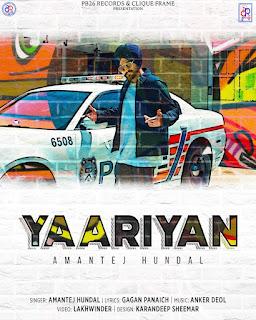 Yaariyan Lyrics _ Amantej Hundal   DjPunjabNew.CoM