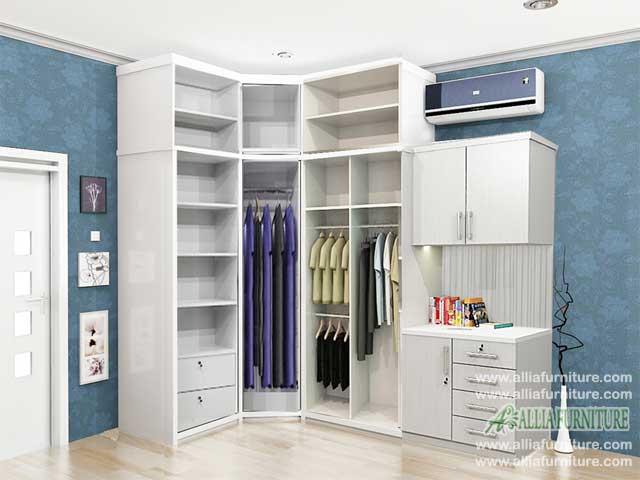lemari baju minimalis sudut model xavi