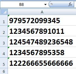 How to Enter Large Number in Excel Cell in Hindi