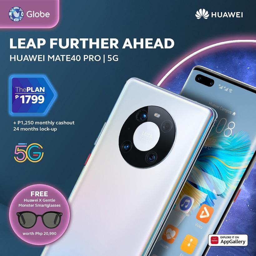 HUAWEI Mate40 Pro 5G now in Globe's ThePlan