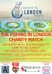 CARE AFTER COMBAT FISHING IN LONDON CHARITY MATCH