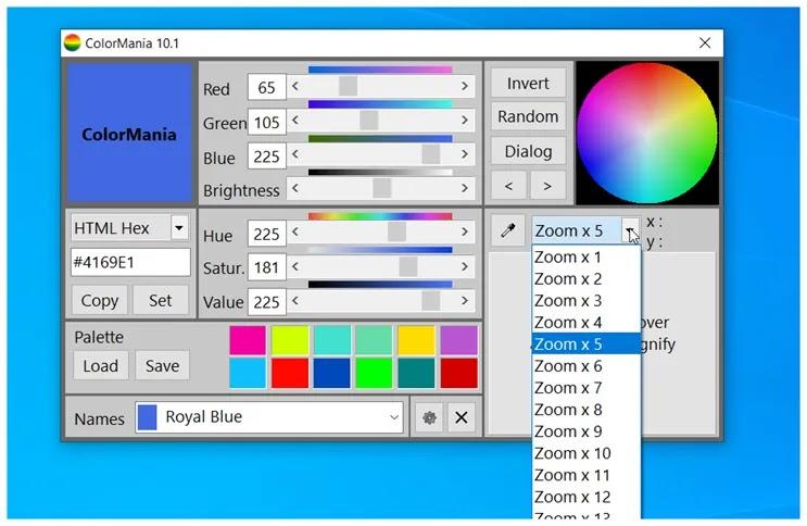 ColorMania : Προηγμένο βοηθητικό πρόγραμμα επιλογής χρωμάτων