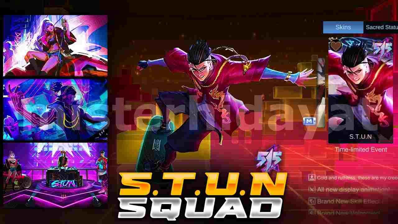 Bocoran Skin Squad STUN Terbaru Mobile legends! Hero Apa Saja?