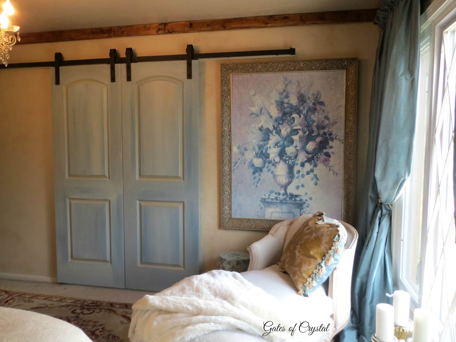 Gates Of Crystal: A New Barn Door In The Master Bedroom