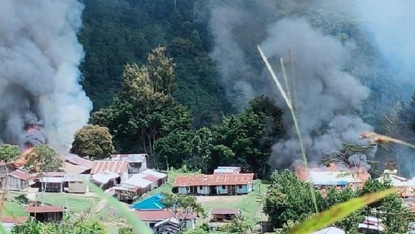 3 Nakes Masih Hilang Usai Teroris KKB Bakar Puskesmas di Pegunungan Bintang