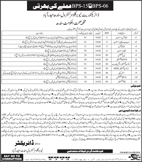 Health Department Govt Of Sindh Jobs March 2019 | 243+ Vacancies | NTS jobs 2019