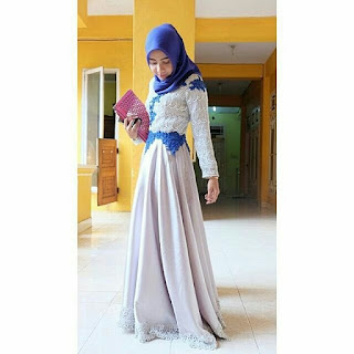 Model dress muslim brokat atau kebaya