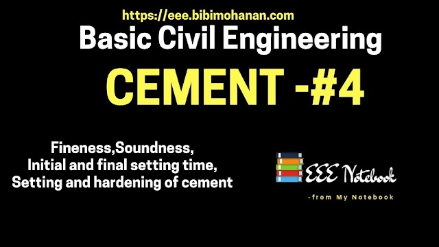 Fineness,Soundness,Initial and final setting time,Setting and hardening of cement|Industries Extension officer Notes